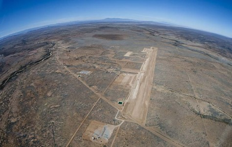 Image: New Mexico's Spaceport America under construction