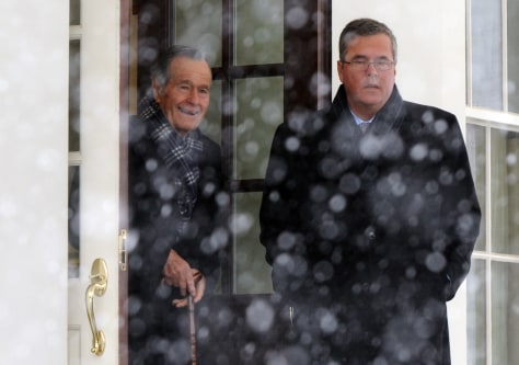 Image: Former President George H.W. Bush and Jeb Bush