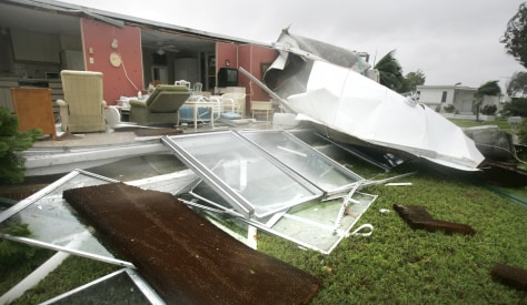 Image: Hurricane damage in 2005