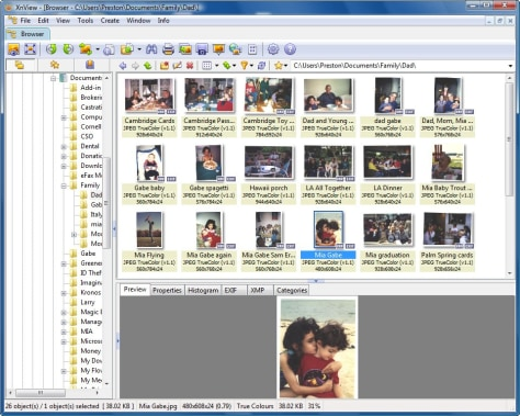 Image: Screen grab of XnView
