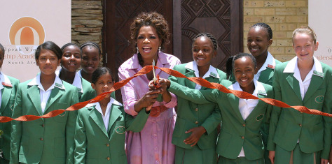 Image: Oprah Winfrey opens a multi-million dollar school