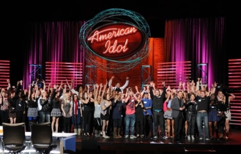 "Image: Hollywood contestants on ""American Idol"""