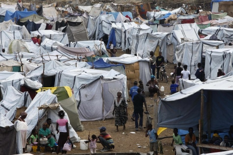 Image: Camp in Haiti