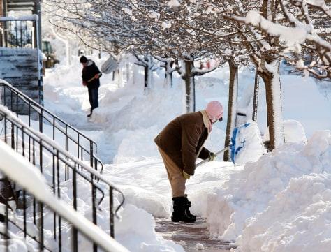 Image: Shoveling snow in Camden, N.J.
