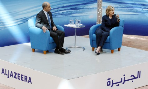 Image: Secretary of State Hillary Clinton in Doha