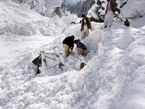 Image: Avalanche killed dozens in Paksitan