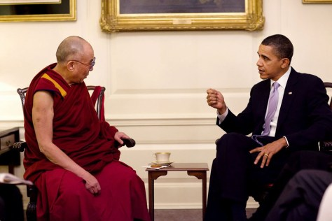 Image: President Barack Obama meets with His Holiness the Dalai Lama