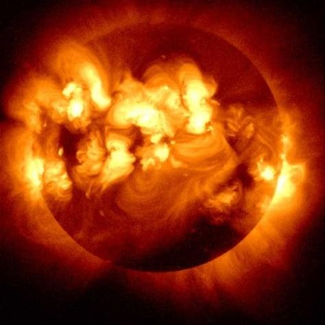 Image: Solar flares