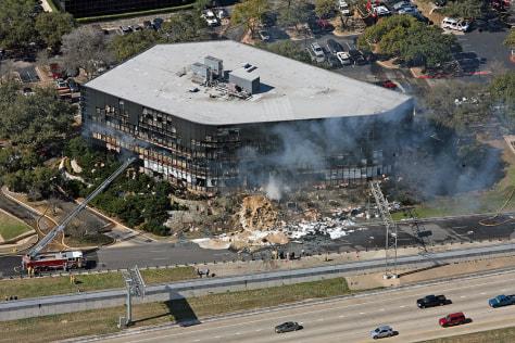 Image: Austin man flies plane into office building