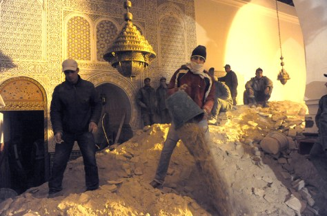 Image: minaret collaps