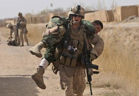 Image: U.S. Marines and Afghan National Army soldiers in Afghanistan