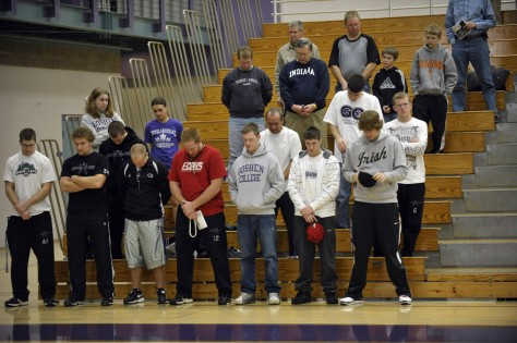 Image: Basketball fans at Goshen College
