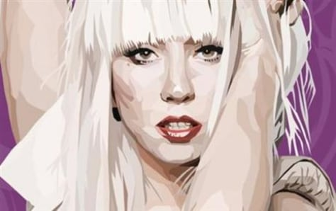 Image: Lady Gaga comic rendering