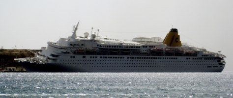 Image: Cruise ship accident