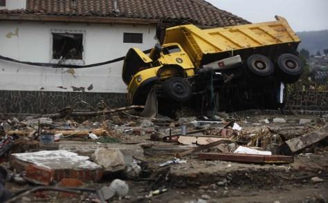 Image: A truck in Constitucion, Chile