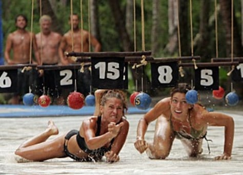 "Image: Jerri and Amanda on ""Survivor"""