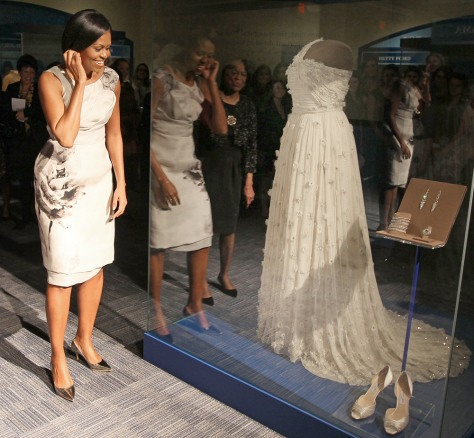 Image: First Lady Michelle Obama donates her Inaugural gown to The Smithsonian