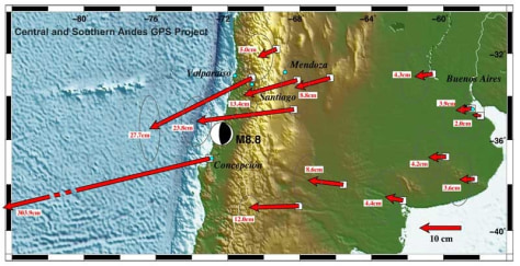 Image: Map shows how Chile quake moved plates