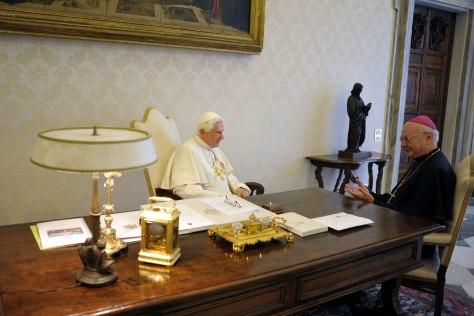 Image: Pope Benedict XVI, Archbishop Robert Zollitsch