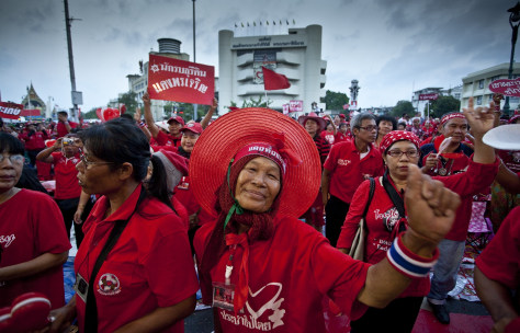 Image: 'Red Shirt' protesters in Bangkok, Thailand