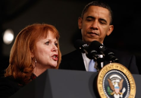 Image: Barack Obama, Connie Anderson