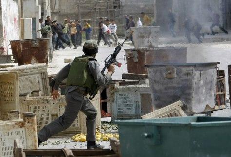 Image: Israeli-Palestinian clash