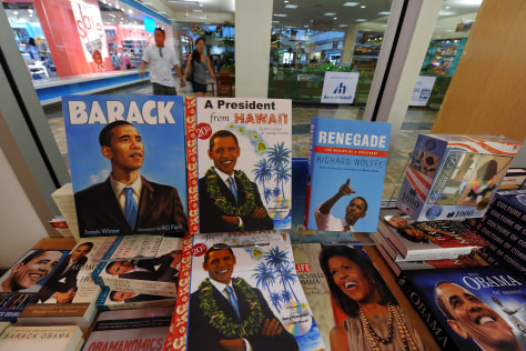 Image: books about obama
