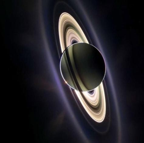 Image: Saturn backlit