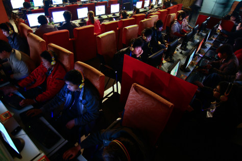 Image: Internet cafe in China