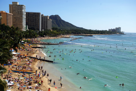 Image: Waikiki beach in Honolulu