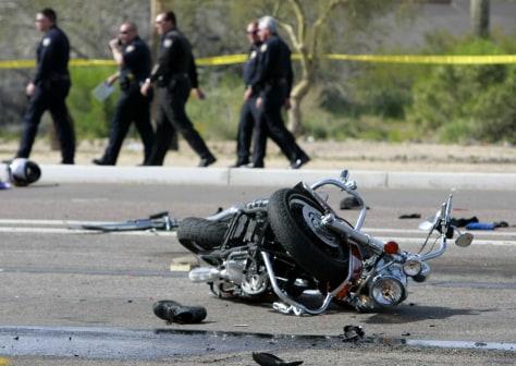 Image: Phoenix motorcycle wreck