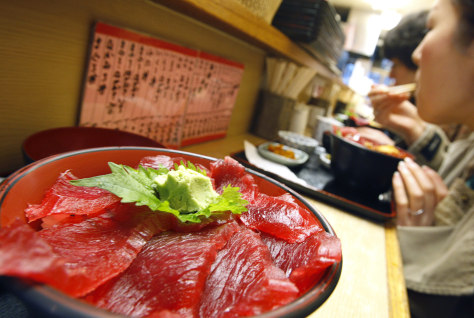 Image: Atlantic bluefin tuna at Tokyo restaurant