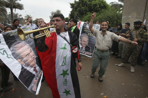 Image: Supporters of Ayad Allawi