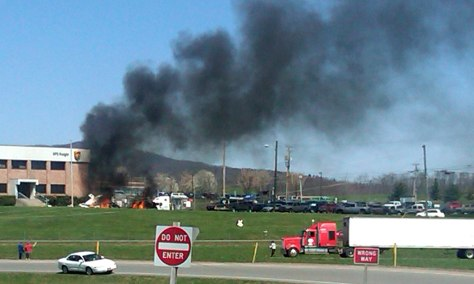 Image: Plane crash near Roanoke, Va. airport.