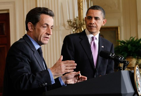 Image: President Obama Meets With France's President Sarkozy