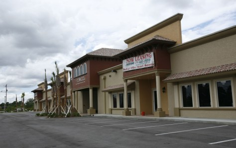 Image: A shopping center is available for lease in Lehigh Acres, Fla.