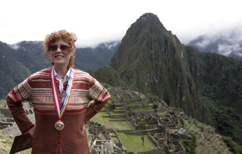 Image: Susan Sarandon at Machu Picchu ruins
