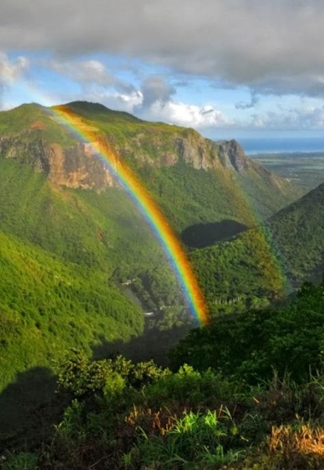 Image: Mauritius Island rainbow