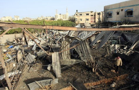 Image: Bombed workshop in Gaza City