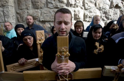 Image: Good Friday procession in Jersualem