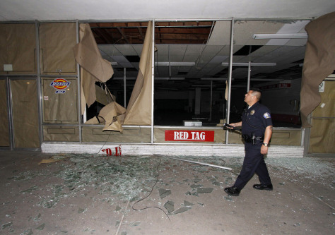 Image: Earthquake damage in downtown Calexico, Calif.