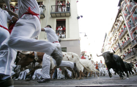 Image: Chased by bulls