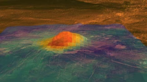 Image: Venus volcanic activity