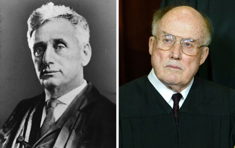 Image: Supreme Court Justices Louis Brandeis and William Rehnquist