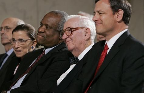 Image: Stephen Breyer, Ruth Bader Ginsburg, Clarence Thomas, John Paul Stevens, John G. Roberts
