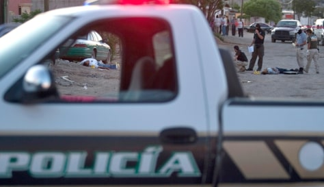 Image: A crime scene in Ciudad Juarez, northern Mexico
