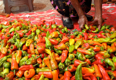 Image: Chiles at the market in Tlacolula, Oaxaca