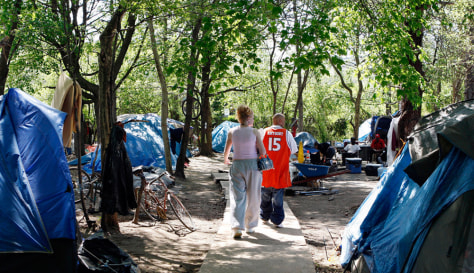 Image: Tent city in Camden, N.J.