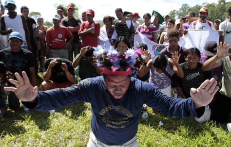 Image: Protest against Belo Monte dam
