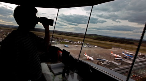 Image: Air traffic control tower at Edinburgh Airport
